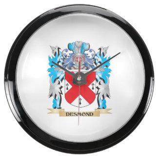 Escudo de armas de Desmond - escudo de la familia Relojes Aqua Clock