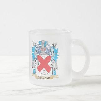 Escudo de armas de Desmond - escudo de la familia Taza Cristal Mate