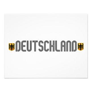 ¡Escudo de armas de Deutschland Invitaciones Personalizada