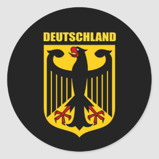 Escudo de armas de Deutschland Pegatina Redonda
