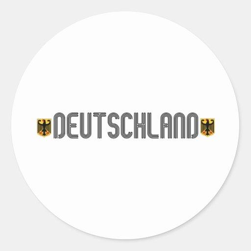 ¡Escudo de armas de Deutschland! Pegatinas Redondas