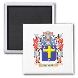 Escudo de armas de Devlin - escudo de la familia Imán Cuadrado