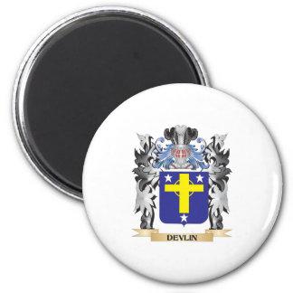 Escudo de armas de Devlin - escudo de la familia Imán Redondo 5 Cm