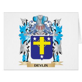 Escudo de armas de Devlin - escudo de la familia Felicitación