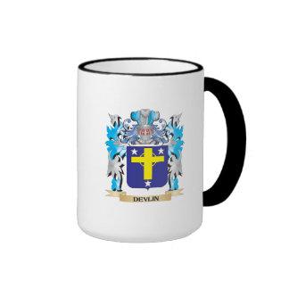 Escudo de armas de Devlin - escudo de la familia Taza De Dos Colores