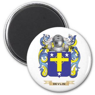 Escudo de armas de Devlin Imán Redondo 5 Cm