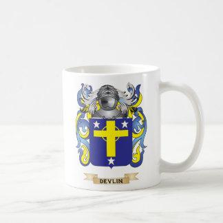Escudo de armas de Devlin Tazas De Café