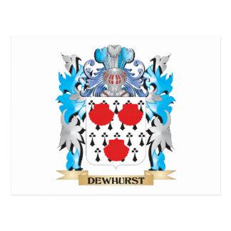Escudo de armas de Dewhurst - escudo de la familia Tarjeta Postal