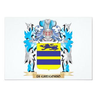 Escudo de armas de Di-Gregorio - escudo de la Invitación 12,7 X 17,8 Cm