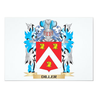 """Escudo de armas de Diller - escudo de la familia Invitación 5"""" X 7"""""""