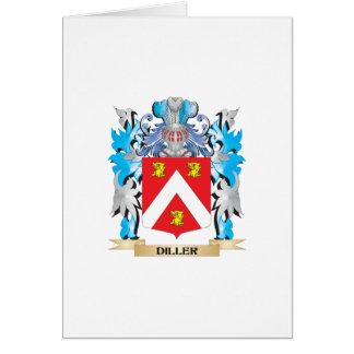 Escudo de armas de Diller - escudo de la familia Tarjeta De Felicitación