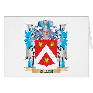 Escudo de armas de Diller - escudo de la familia Tarjeta Pequeña
