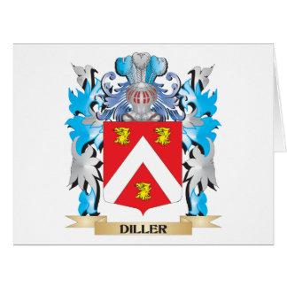 Escudo de armas de Diller - escudo de la familia Tarjeta De Felicitación Grande
