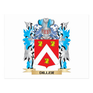 Escudo de armas de Diller - escudo de la familia Tarjeta Postal