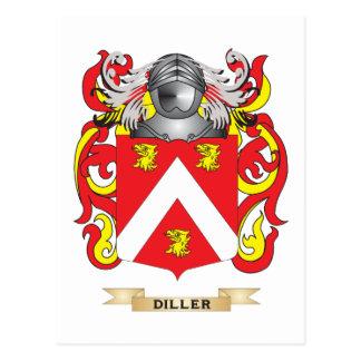 Escudo de armas de Diller Tarjetas Postales