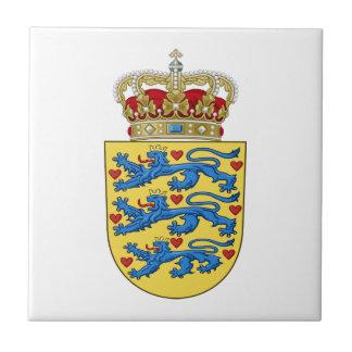 Escudo de armas de Dinamarca Azulejo