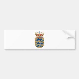 Escudo de armas de Dinamarca Pegatina Para Auto