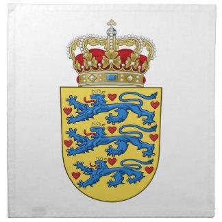 Escudo de armas de Dinamarca Servilleta
