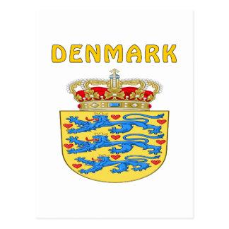 Escudo de armas de DINAMARCA Postal
