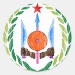 Escudo de armas de Djibouti Etiqueta Redonda