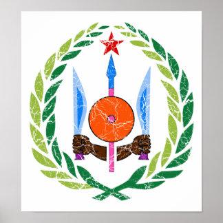 Escudo de armas de Djibouti Poster