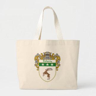 Escudo de armas de Doherty (cubierto) Bolsa Tela Grande