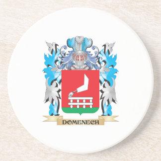 Escudo de armas de Domenech - escudo de la familia Posavasos Personalizados