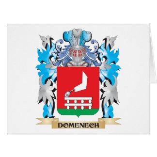 Escudo de armas de Domenech - escudo de la familia Tarjeta