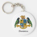 Escudo de armas de Dominica Llaveros Personalizados