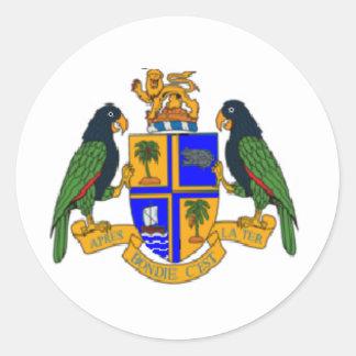 Escudo de armas de Dominica Etiqueta Redonda