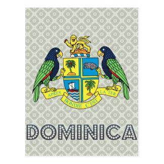 Escudo de armas de Dominica Tarjeta Postal