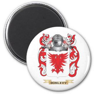 Escudo de armas de Donlevy Imán Redondo 5 Cm