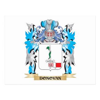 Escudo de armas de Donovan - escudo de la familia Tarjetas Postales