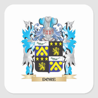 Escudo de armas de Dore - escudo de la familia Pegatina Cuadrada