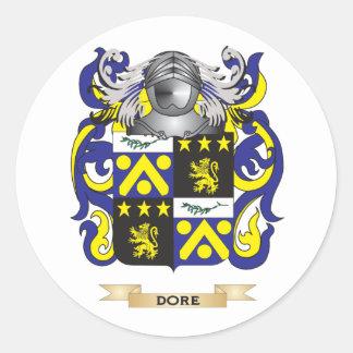 Escudo de armas de Dore Pegatina Redonda