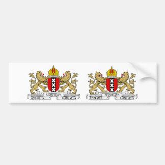 Escudo de armas de DOS Amsterdam Pegatina De Parachoque