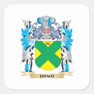 Escudo de armas de Dowd - escudo de la familia Pegatina Cuadrada