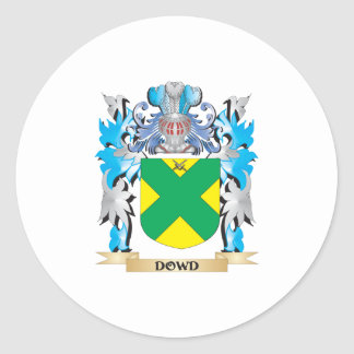 Escudo de armas de Dowd - escudo de la familia Pegatina Redonda
