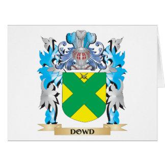 Escudo de armas de Dowd - escudo de la familia Tarjeta De Felicitación Grande