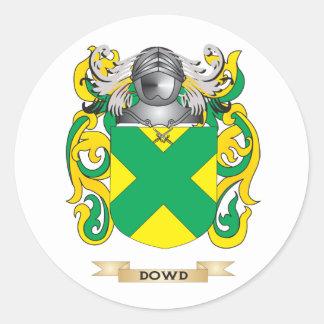 Escudo de armas de Dowd Pegatina Redonda