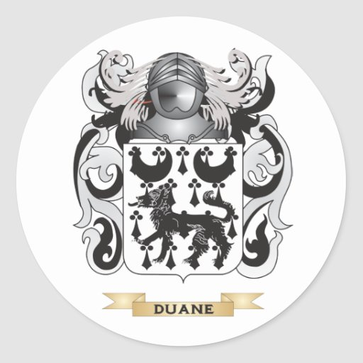 Escudo de armas de Duane Pegatinas Redondas