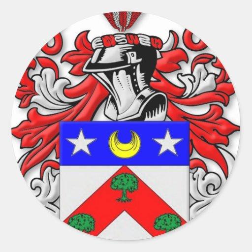 Escudo de armas de DuBois Pegatina Redonda