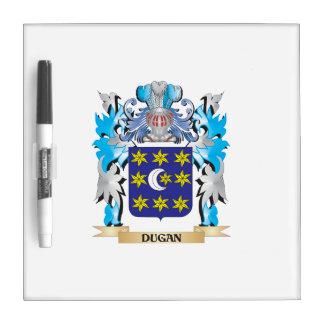 Escudo de armas de Dugan - escudo de la familia Tableros Blancos
