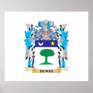 Escudo de armas de Dumas - escudo de la familia Poster