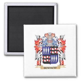 Escudo de armas de Dunaway - escudo de la familia Imán Cuadrado
