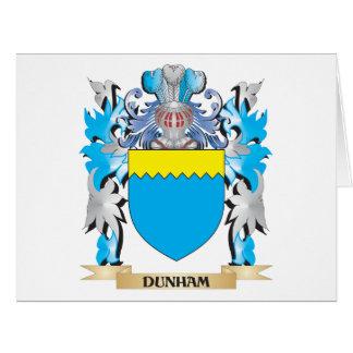 Escudo de armas de Dunham - escudo de la familia