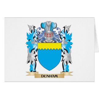 Escudo de armas de Dunham - escudo de la familia Tarjetas