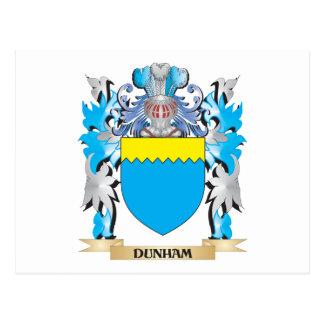 Escudo de armas de Dunham - escudo de la familia Tarjetas Postales