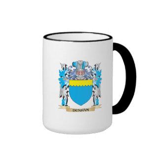 Escudo de armas de Dunham - escudo de la familia Taza A Dos Colores