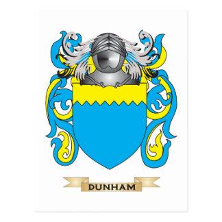 Escudo de armas de Dunham Tarjetas Postales
